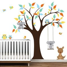 Children Vinyl Wall Decals tree decal with kangaroo by Modernwalls, $129.00 https://www.etsy.com/shop/Modernwalls