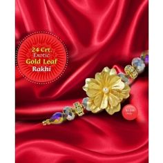 Raksha Bandhan is one of the most celebrated festival in the Indian subcontinent. Glorifying the relationship between a brother and a sister, Pujashoppe brings to  you a 24 Crt. Exotic Gold Leaf Rakhi to gift. Visit at: https://www.pujashoppe.com/24-crt-exotic-gold-leaf-rakhi.html