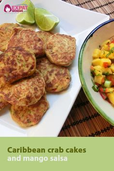 Try this tasty recipe for caribbean crab cakes and mango salsa!
