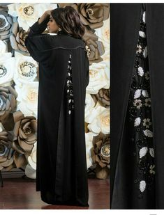 Abaya Fashion, Fashion Dresses, Wedding Abaya, Modern Abaya, Modele Hijab, Black Abaya, Arabic Dress, Kaftan Style, Crystal Dress