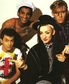 Culture Club are an English pop band that were formed in 1981. The band comprised Boy George (lead vocals), Mikey Craig (bass guitar), Roy Hay (guitar and keyboards) and Jon Moss (drums and percussion).