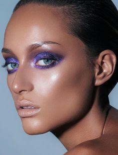 Pinterest: DeborahPraha ♥️ purple eyeshadow and bronzed skin