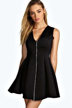 Alicia Bonded Scuba Zip Skater Dress. Get awesome discounts up to 60% Off at Boohoo with Coupon and Promo Codes.