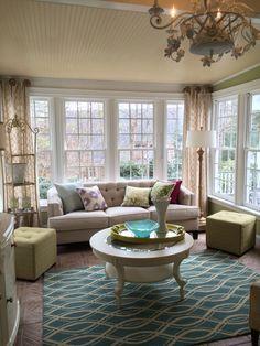 Cottage Style Sunrooms House Sunroom Decorating