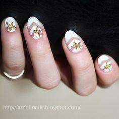 Cute starfish nails.