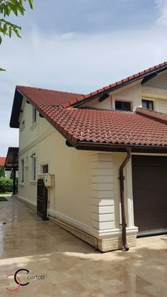 Proiect Casa Rezidentiala Arges – Profile Decorative House Front Design, Roof Design, Classic House Exterior, Pillar Design, Architect House, Facade House, Design Case, Home Fashion, Home Interior Design