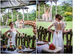 Tie up back wedding dress | Image by Ludivine B