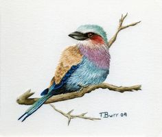 Stunning needle painting embroidery by Trish Burr