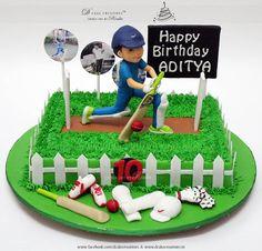 Ideas For Cars Birthday Party Cake Food Ideas Cricket Birthday Cake, Cricket Theme Cake, Birthday Cake Girls, Surprise Birthday, Disney Cars Birthday, Cars Birthday Parties, Foundant, Sport Cakes, Pokemon