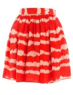 Jumpo Orange Tie Dye Skater Skirt