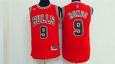 Canotta nba basket maglia RONDO 9 jersey CHICAGO BULLS S-M-L-XL-XXL  Maglietta Sportiva 54040ba53cee