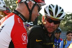 Lance Armstrong and Chris Horner at the start of the 2011 Livestrong Challenge Austin
