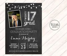 Hey, I found this really awesome Etsy listing at https://www.etsy.com/listing/510814796/graduation-party-invitation-chalkboard