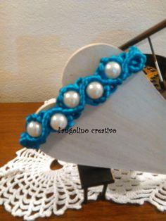 bracciale in macrame con perle