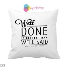 Get instant 5% OFF for ALL PRODUCTS ! well done is better than well sad New Hot Pillow Case