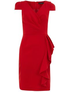 Red ruffle front dress from Dorothy Perkins