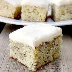 Banana bars with cream cheese frosting.  The best banana dessert I've ever had!