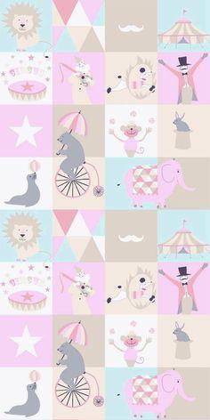 Circus  Soft Pink, Light Blue & Beige från Midbec