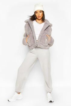 Shop boohoo's range of womens and mens clothing for the latest fashion trends you can totally do your thing in, with of new styles landing every day! Grey Bomber Jacket, Faux Shearling Jacket, Plastic Raincoat, Teddy Coat, Padded Jacket, Pocket Detail, Fashion Face, Winter Coat, Coats For Women
