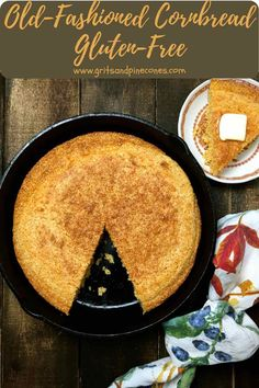 Hot out of the oven, this Southern-style Old-Fashioned Cornbread from the Deep South with its delicious corn flavor and crispy, crunchy edges has been a family favorite for generations. It's a quick and easy, gluten-free recipe. Classic cornbread, made with buttermilk in a cast-iron skillet, is a true Southern staple. #cornbread #southerncornbread #glutenfree #thanksgiving Buttermilk Cornbread, Gluten Free Cornbread, Easy Holiday Recipes, Easy Recipes, Pizza Recipes, Bread Recipes, Old Fashioned Cornbread, My Best Recipe, Southern Recipes
