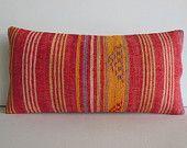 throw pillow sofa rustic pillow cover sofa throw pillow kilim pillow pink kilim rug pillow orange yellow purple striped lumbar kilim pillow