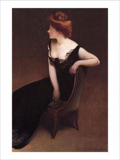 Woman Reclining in Black Dress