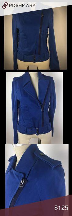 "3.1 Phillip Lim Blue Cotton Motorcycle Jacket XS NWT 3.1 Phillip Lim Cotton Moto Jacket. Size: 0 will fit 2/4 Color: Blue  Details: electric blue color soft cotton material retails for $550 belted bottom  97% cotton, 3% elastan  Measurements; armpit to armpit: 16.5""  length : 22.5"" shoulder to shoulder:  around 17.5"" armpit to sleeve's end: 17"" shoulder to sleeve's end: 21.5"" 3.1 Phillip Lim Jackets & Coats Utility Jackets"