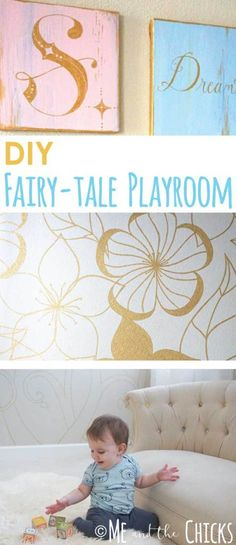 DIY Fairy-tale playroom. Be inspired by these interior design ideas for your whimsical, storybook playroom. Click through for sewing crafts and painting projects to create a magical kid play space.