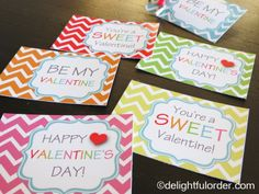 Delightful Order: Free Printable Valentine's Day Tags