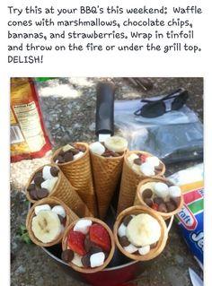 Smores cones