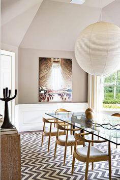Comedor en los Hamptons por la decoradora Julie Hillman. AD España, © Manolo Yllera