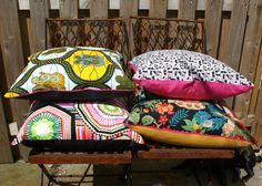 Large Bright Pillow Cushion Cover Julia Rothman by softshockdesign, €28.00