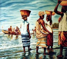 Fresh fish from the sea, Africa by Dan Civa