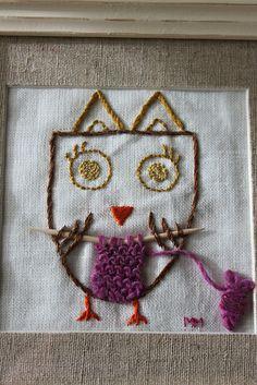 owly knitting!!!