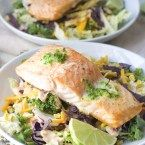 Roasted Salmon with Jalapeño Lime Butter