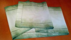 Rustic charm with a dip dye green table runner, ideal for the festive season