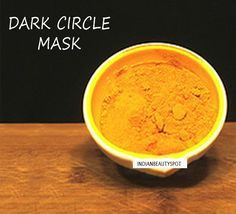 Dark Circle Mask using Turmeric - ♥ IndianBeautySpot.Com ♥