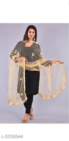 Dupattas Classy Trendy Women Dupattas Fabric: Net Pattern: Embroidered Multipack: 1 Sizes:Free Size (Length Size: 2.25 m) Country of Origin: India Sizes Available: Free Size *Proof of Safe Delivery! Click to know on Safety Standards of Delivery Partners- https://ltl.sh/y_nZrAV3  Catalog Rating: ★3.9 (488)  Catalog Name: Ravishing Trendy Women Dupattas CatalogID_827749 C74-SC1006 Code: 982-5538844-