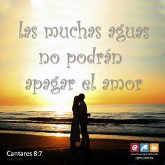 Nada puede acabar con el amor; nada puede destruirlo. (Cantares 8:7) Entra en http://cpm.com.es