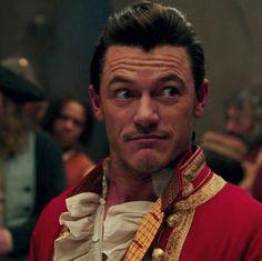 Gaston played by Luke Evans