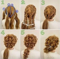 - Colorful hair diy - The post appeared first on Bunte Haar Diy. Work Hairstyles, Pretty Hairstyles, Braided Hairstyles, Wedding Hairstyles, Latest Hairstyles, Hair Dos, Hair Designs, Prom Hair, Hair Hacks