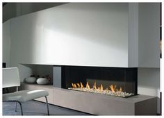 long narrow gas fireplaces can look super elegant and streamline