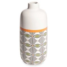 GAO white ceramic vase with tricoloured motifs   Maisons du Monde   Havana Nights
