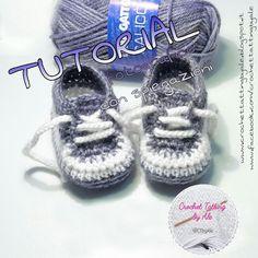 Crochet Flower Hat, Crochet Baby Hat Patterns, Crochet Vest Pattern, Crochet Baby Boots, Knit Baby Booties, Crochet Shoes, Baby Patterns, Baby Shoes Tutorial, Crochet Converse