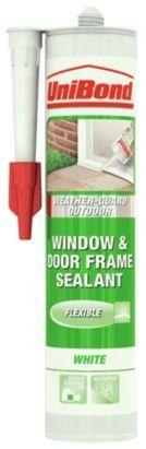 Unibond UPVC & Wood Exterior Frame Sealant 473018 White 310ml, 5010383236618