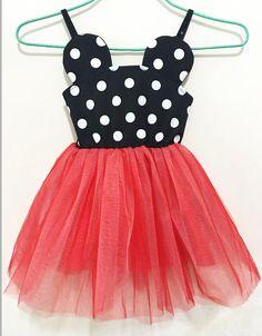 Minnie Mouse Dot Dress Red! Size 12mth-4T www.marilijean.com