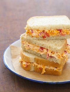pimento cheese sandwiches - yum!