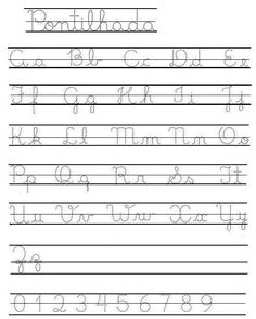 Abecedario caligrafia cursiva para imprimir - Imagui