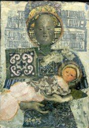 Figures, Anne Bagby, art textiles, figurative artist, http://www.annebagby.com, madonna and child