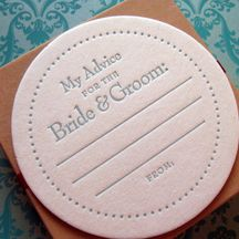 #Wedding coasters - My advice for the bride and groom